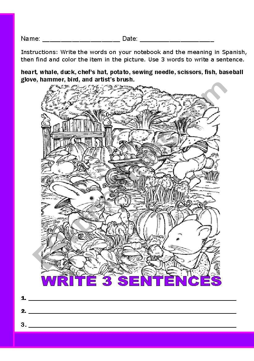 word search for vocabulary worksheet