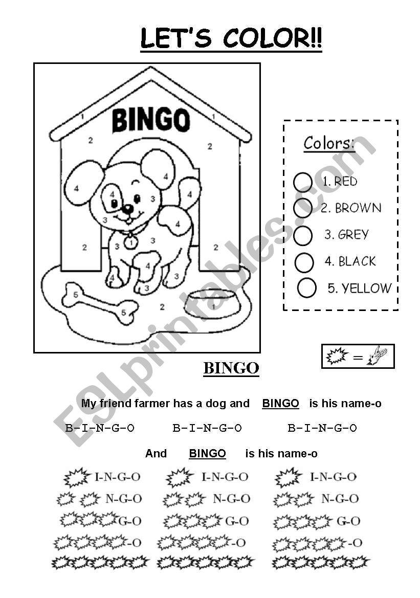 Music for kids - BINGO worksheet