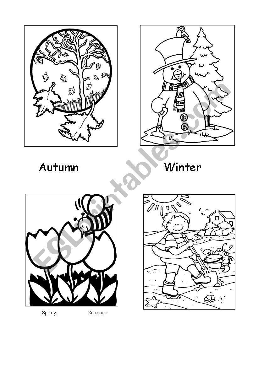Seasons - colouring sheet worksheet