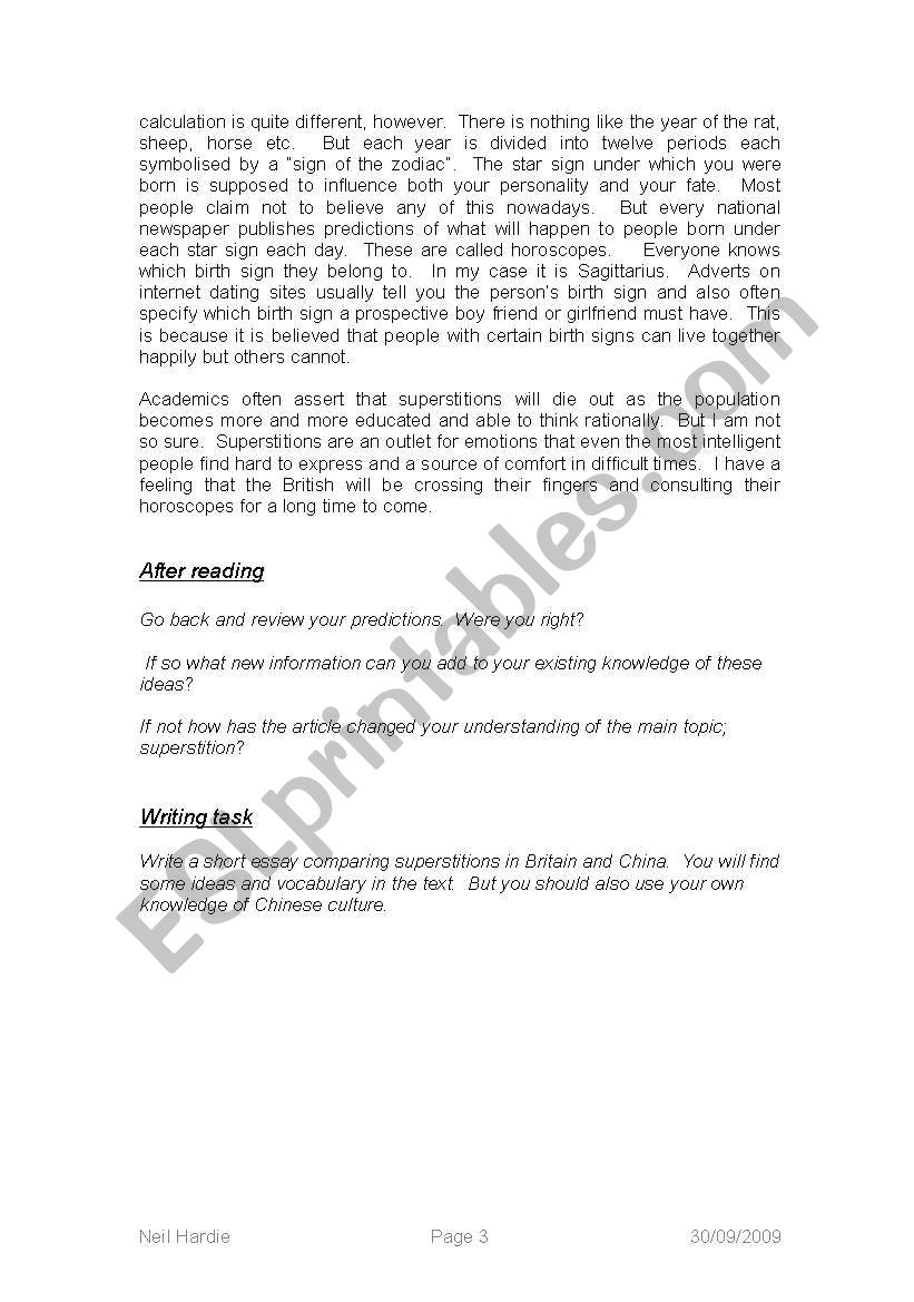 ≡Essays on Superstition. Free Examples of Research Paper Topics, Titles GradesFixer