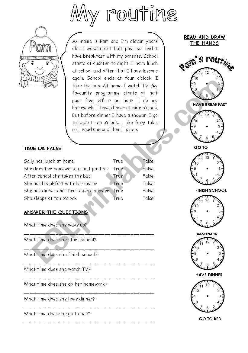 MY ROUTINE (1) worksheet