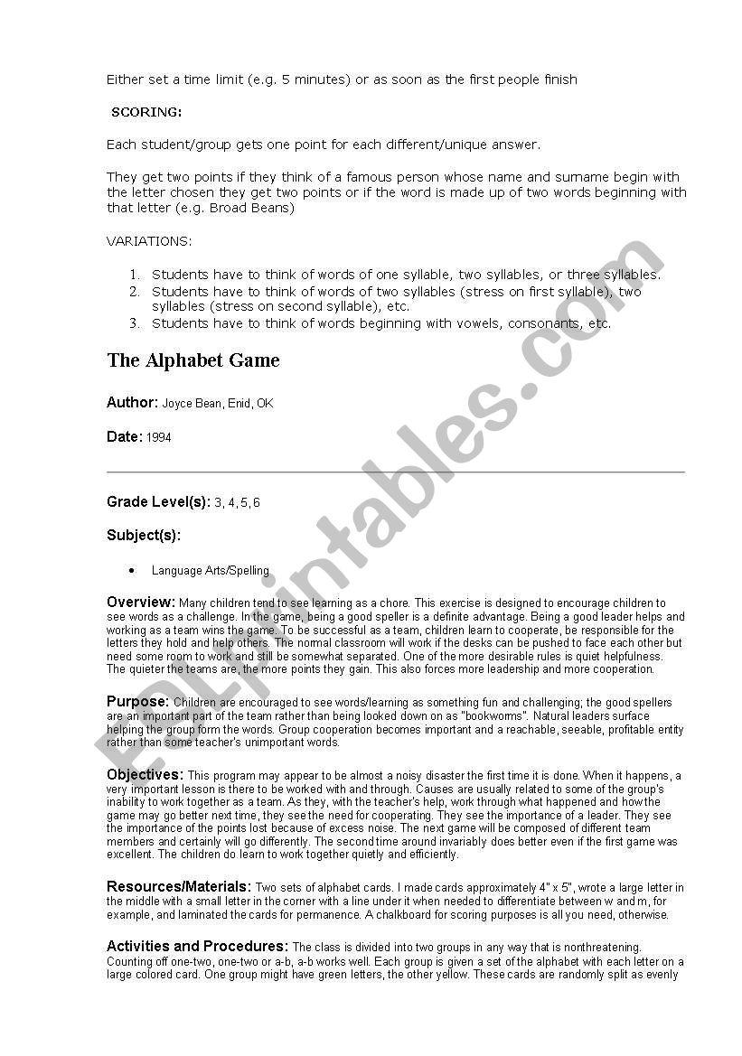 Games - ESL worksheet by ninia