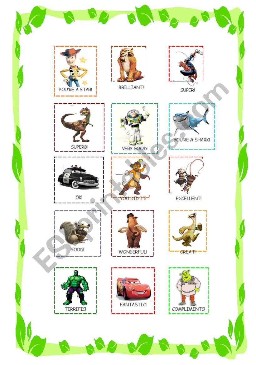 Reward stickers for boys worksheet