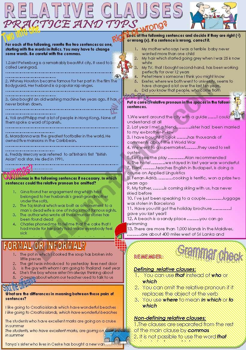 Relative clauses - Grammar check and practice