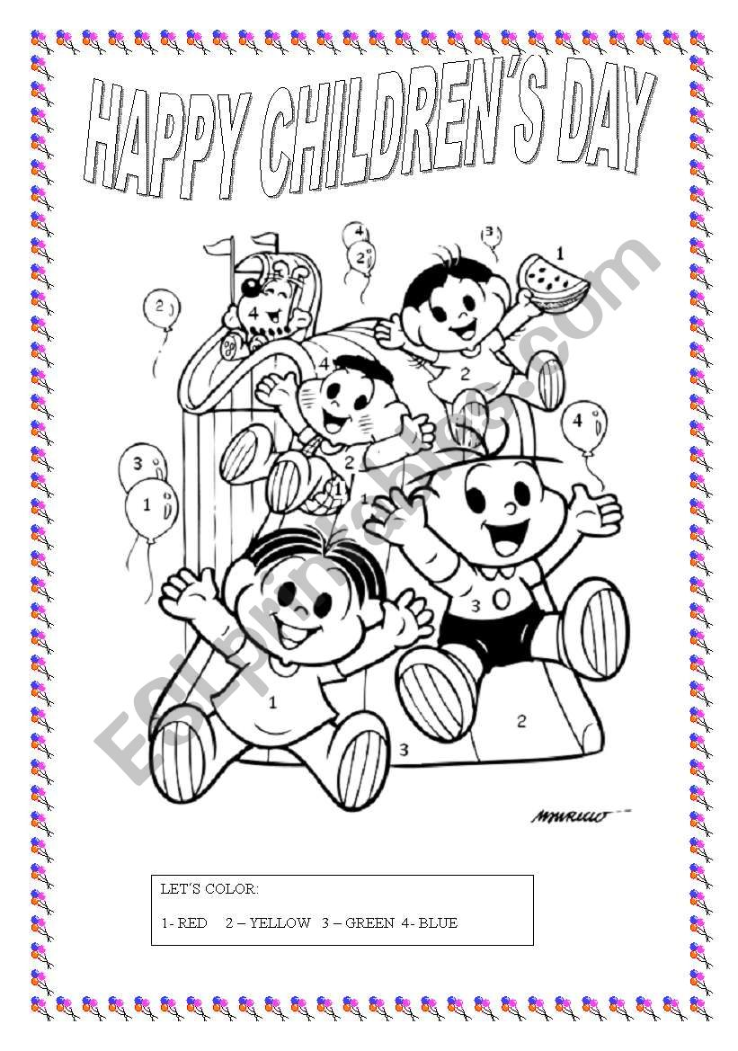 CHILDREN´S DAY ACTIVITY - ESL worksheet by t@ti