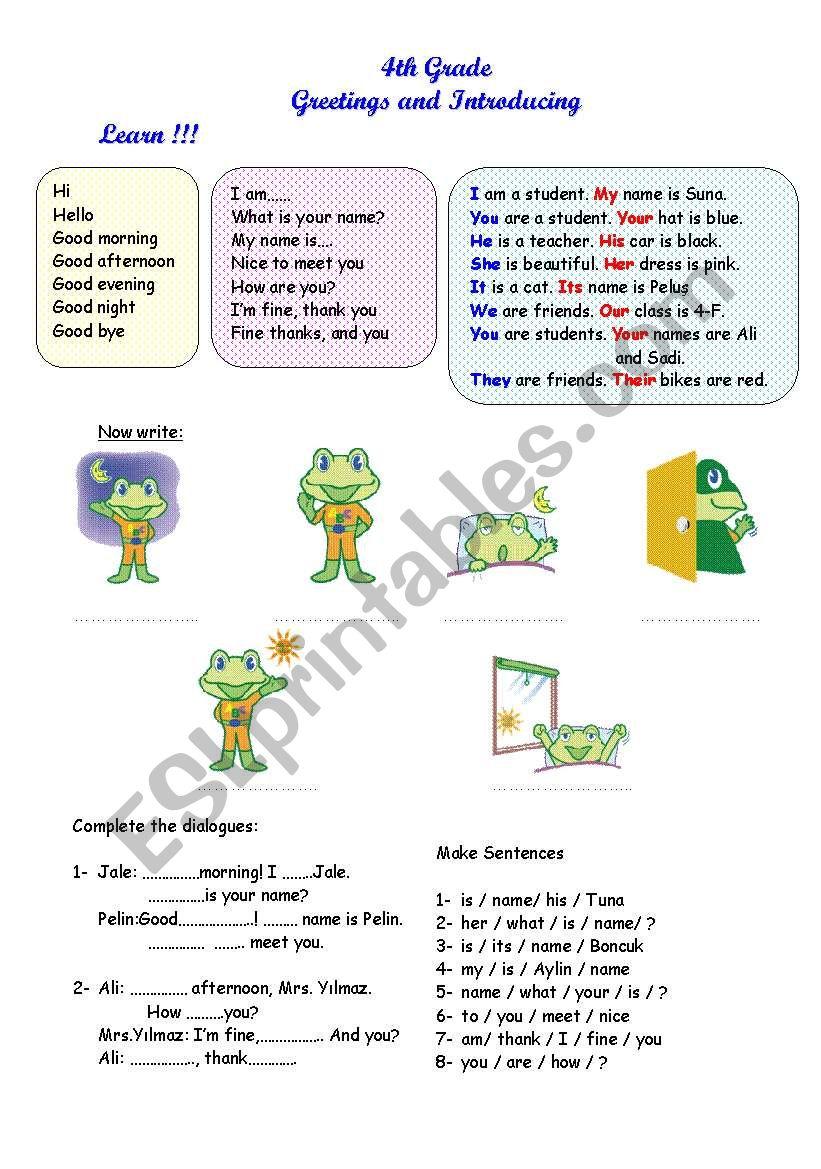 Greetings And Introducing Esl Worksheet By Yasidrkn