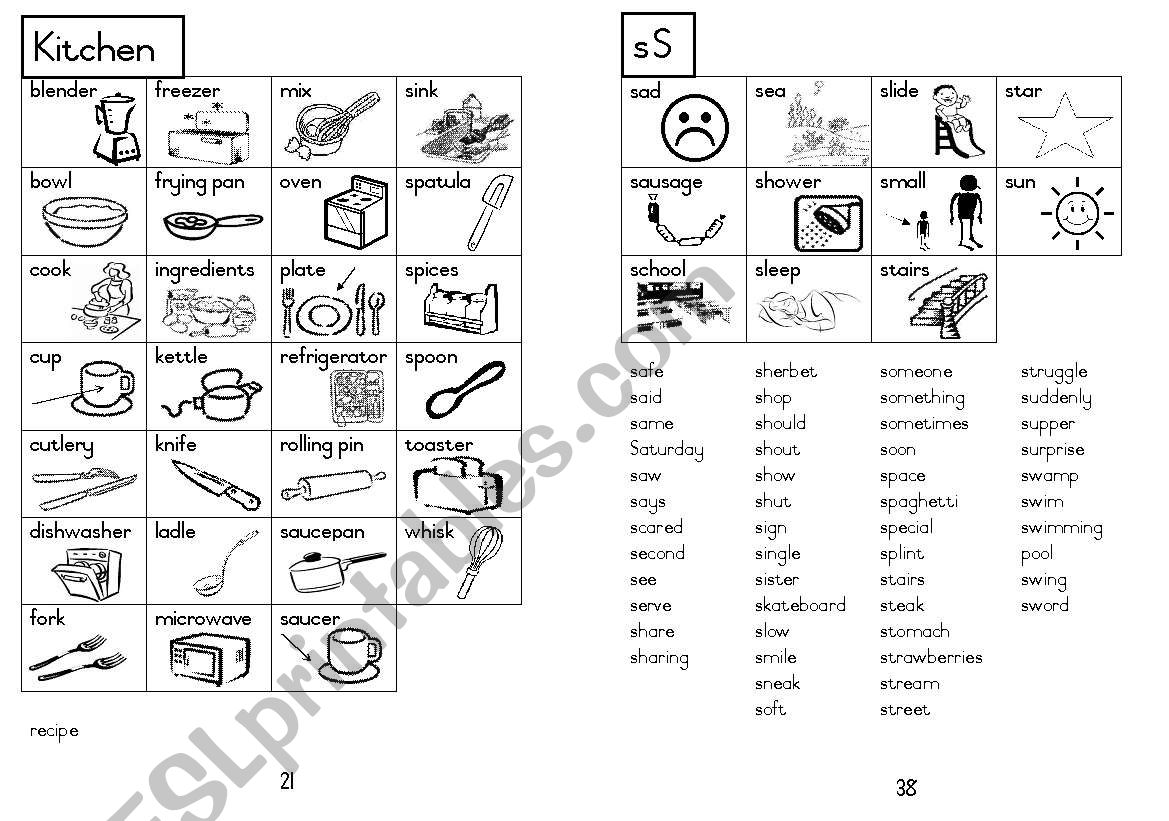 A5 Picture Dictionary 22 worksheet