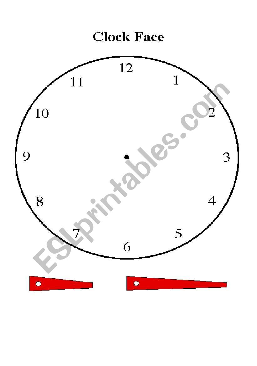 Making a clock for the time worksheet