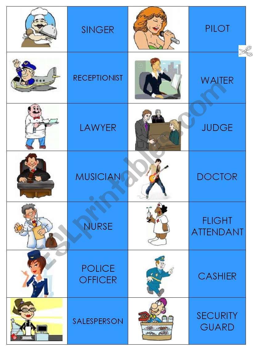 Domino Jobs worksheet
