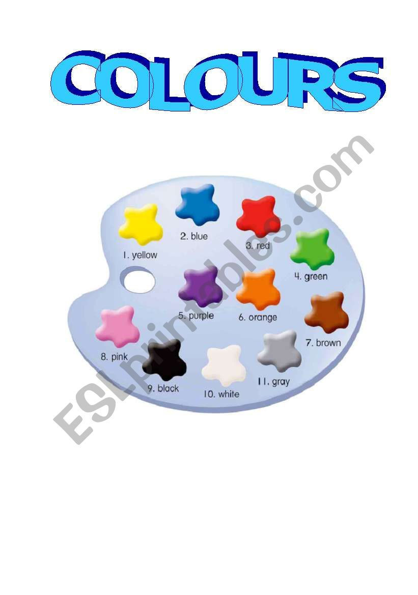 colour palette worksheet