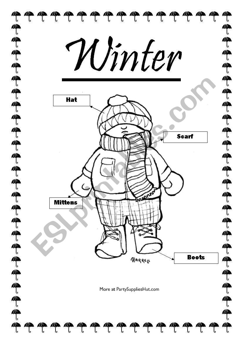 winter clothes worksheet