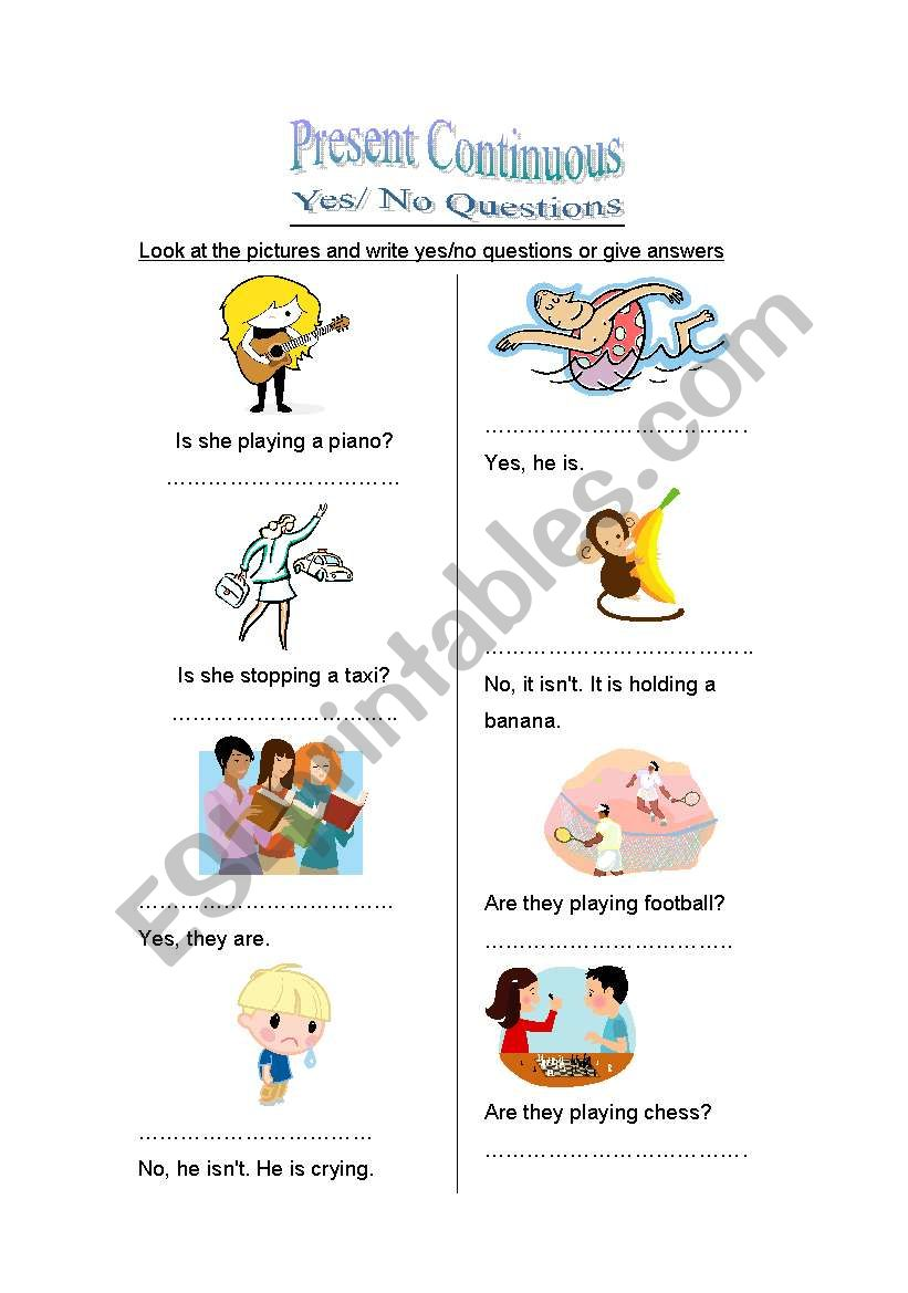 ask and answer worksheet