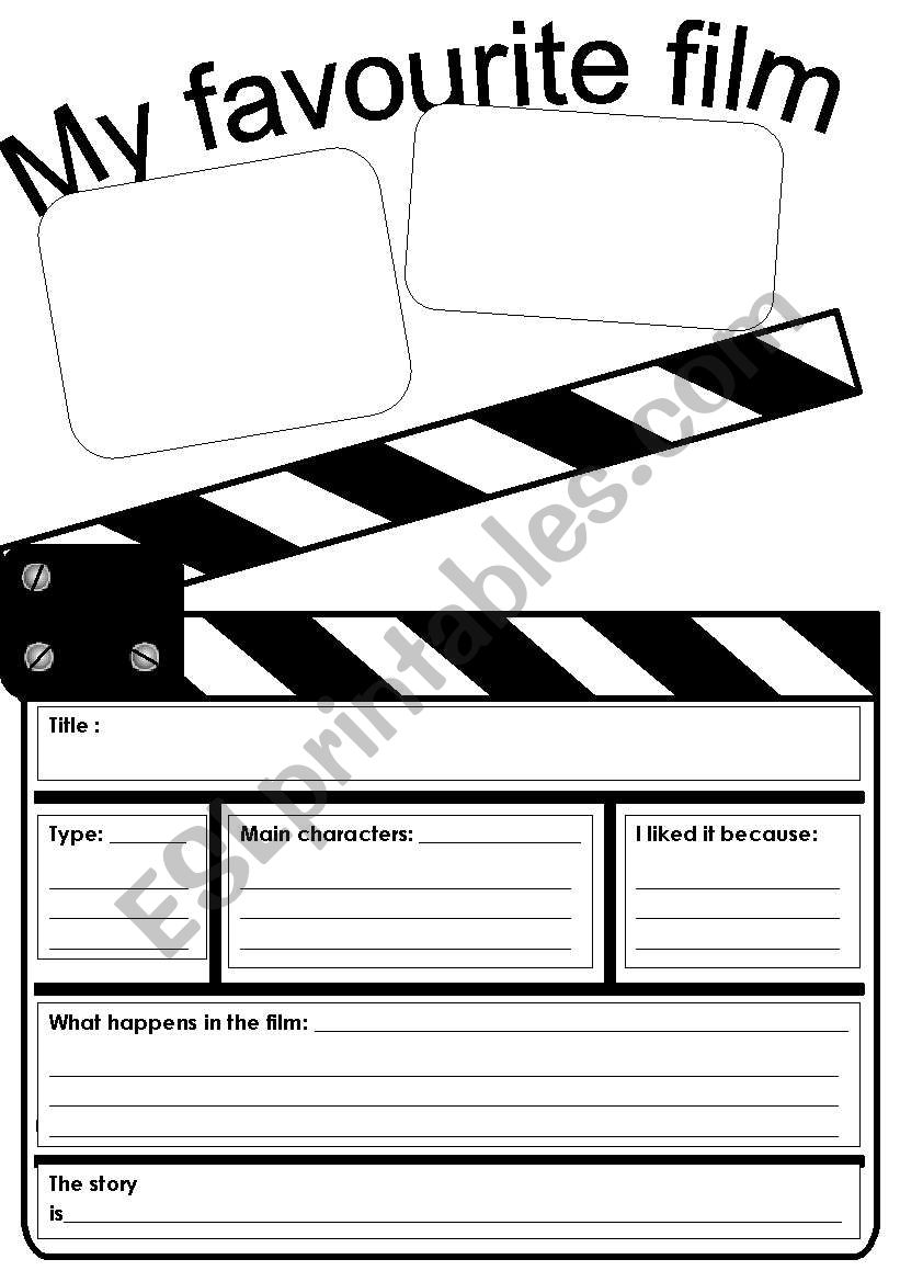 My favourite film worksheet