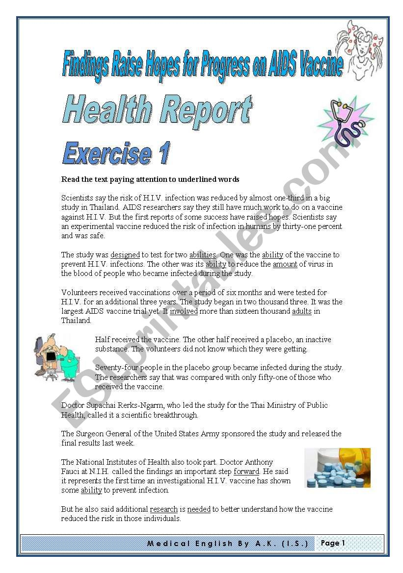 5pages 8 Exercises Medical English Vocabulary Builder Discussing Social Issues Esl Worksheet By Allakoalla