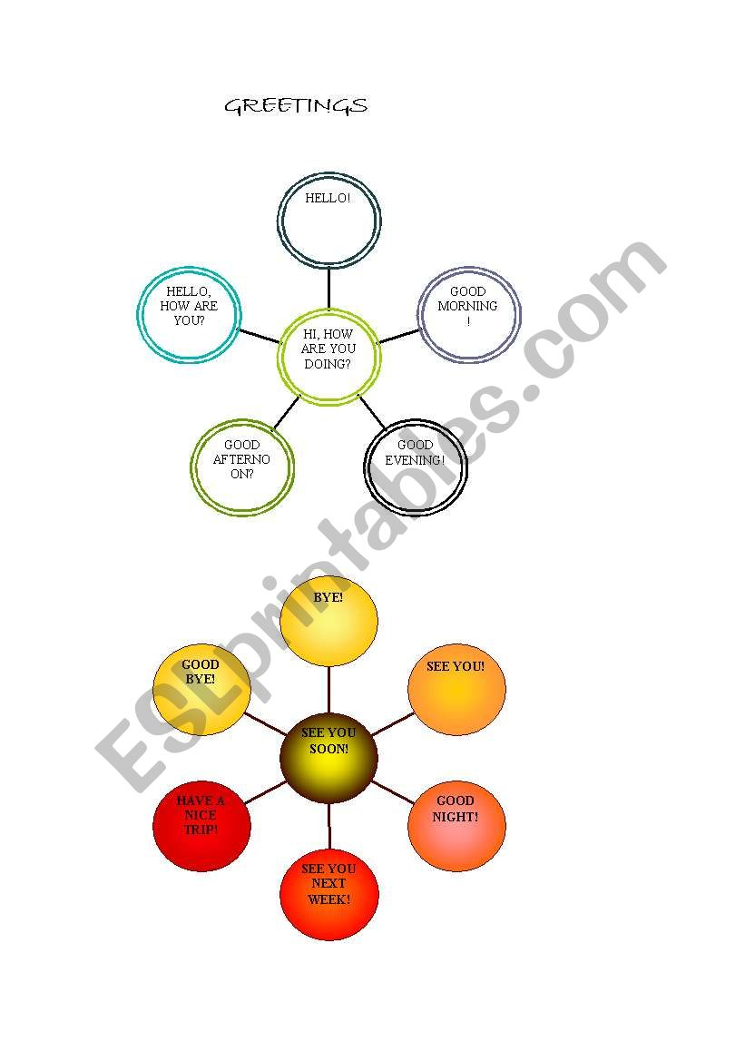 Greetings diagram worksheet