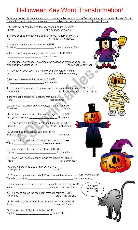 Halloween Key Word Transformation