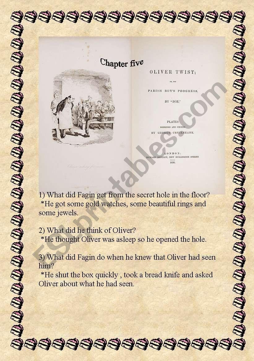 Oliver Twist (ch 5&6) part 2 worksheet