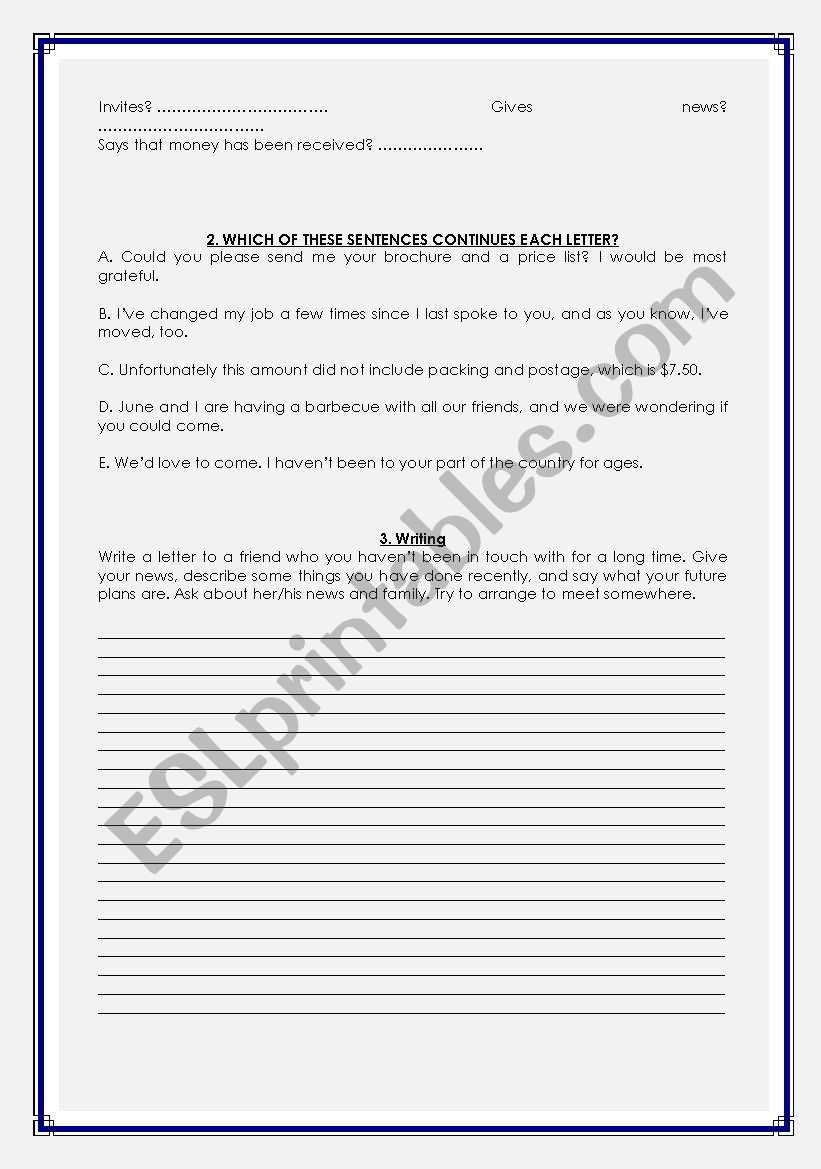 Business English Writing Beginning And Ending Letters  Esl
