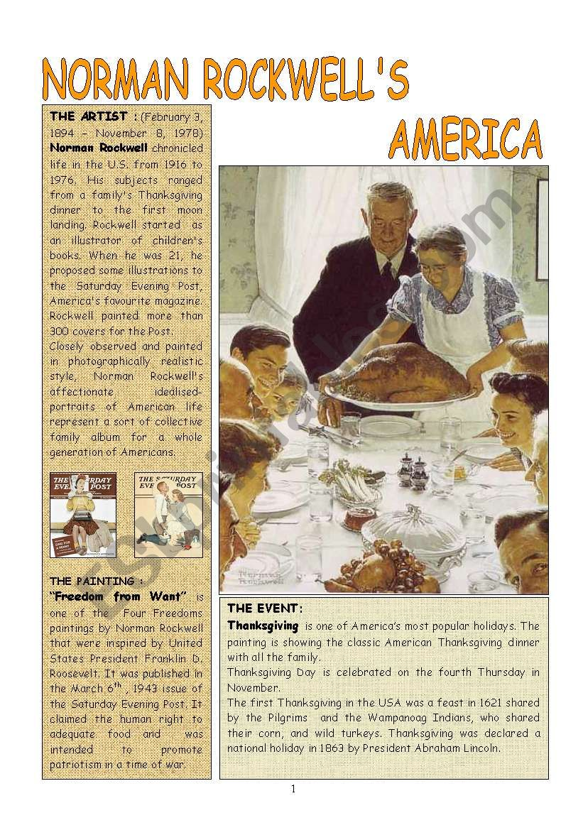 THANKSGIVING  by Norman Rockwell