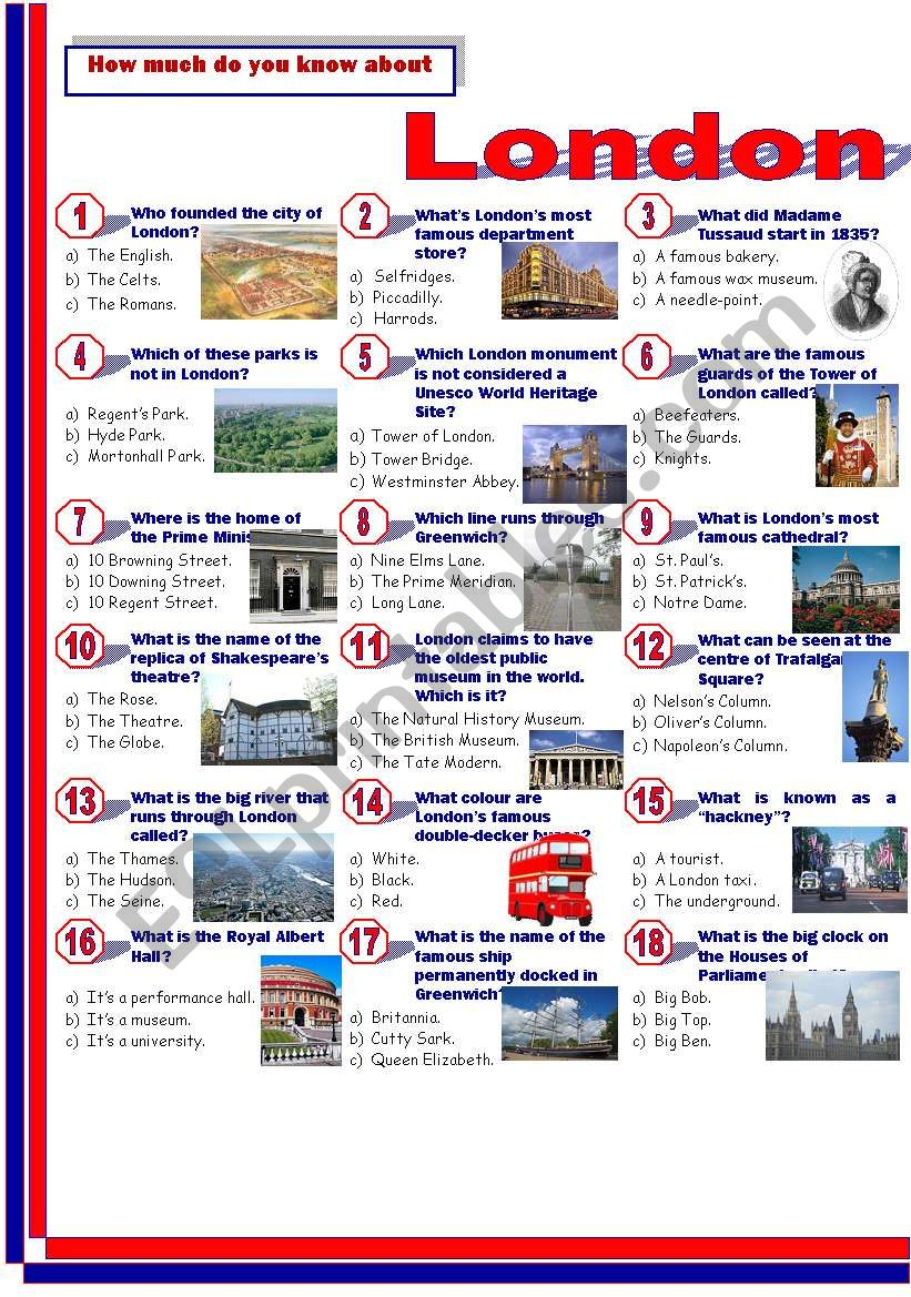 London-Quiz worksheet