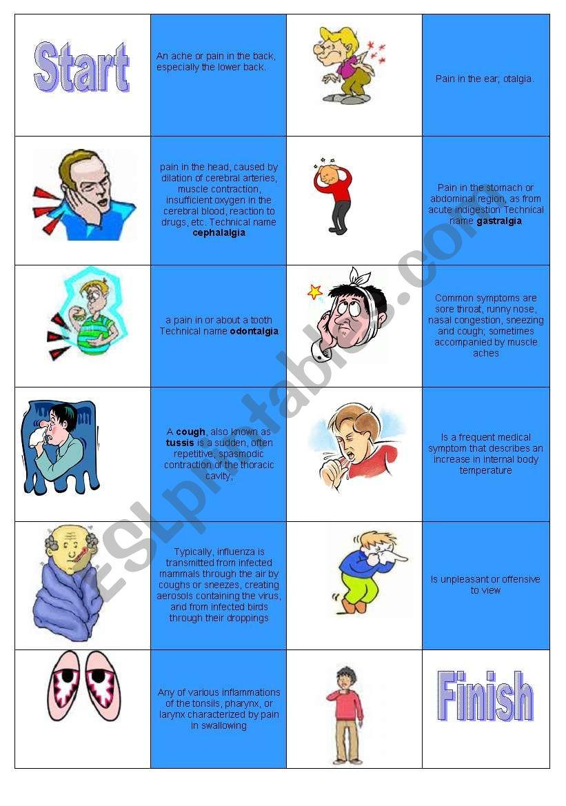 Domino illnesses worksheet