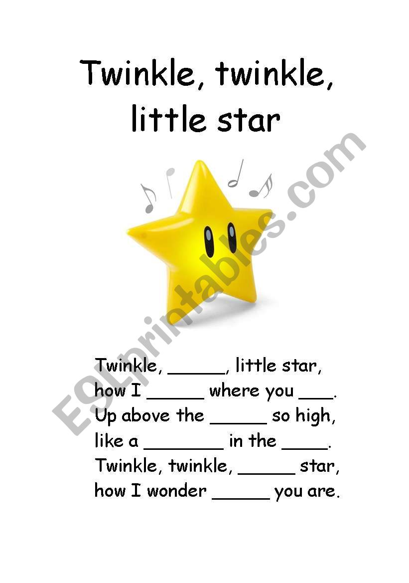 Twinkle, twinkle, little star - fill in missing gaps