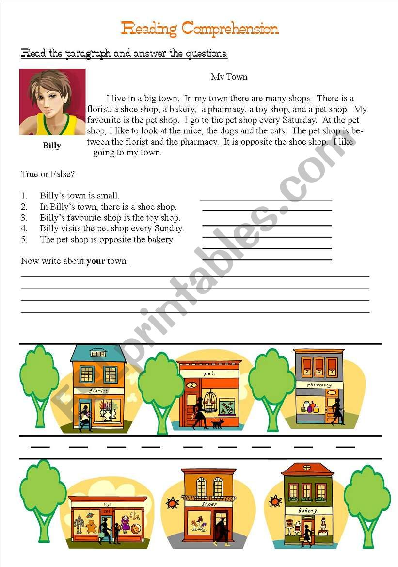 my town reading comprehension esl worksheet by jeff jane. Black Bedroom Furniture Sets. Home Design Ideas