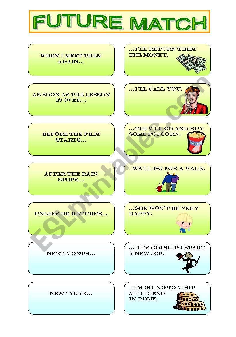 FUTURE MATCH worksheet