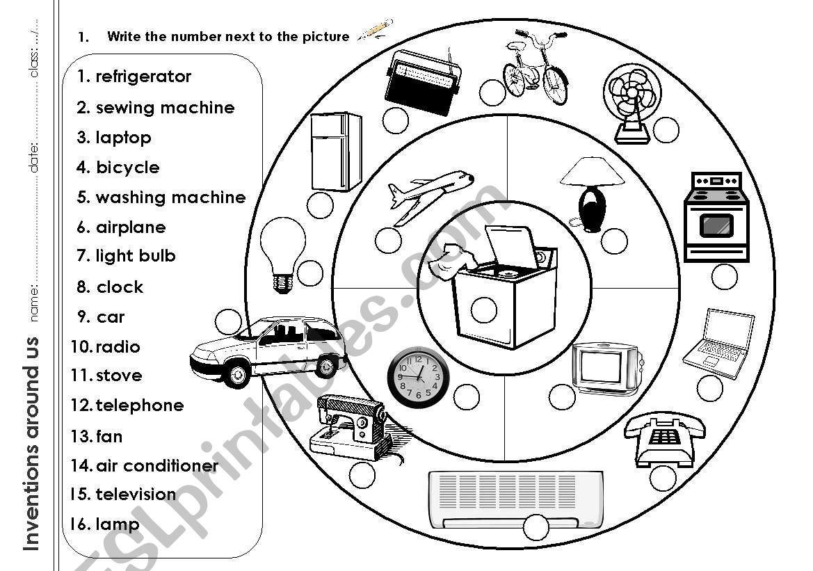 Magnificent Inventions Around Us Esl Worksheet By Dedicatedteacher Wiring Digital Resources Talizslowmaporg