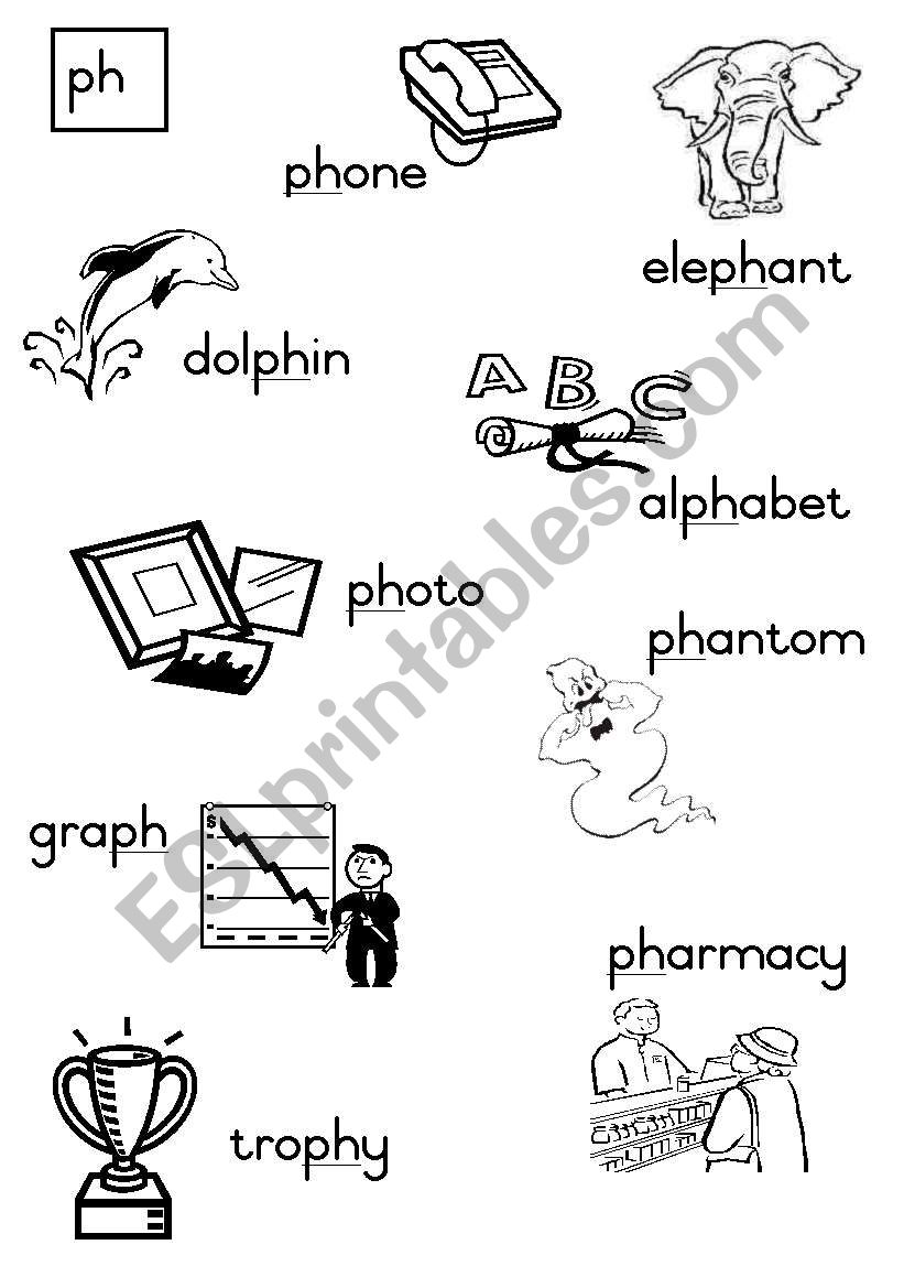 -ph Consonant diagraph worksheet