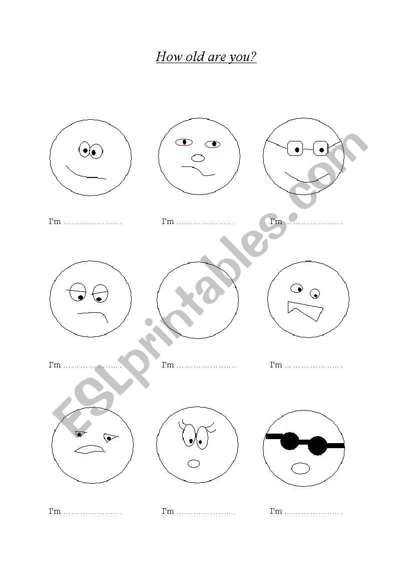 english worksheets how old are you game Old GAMS how old are you game worksheet