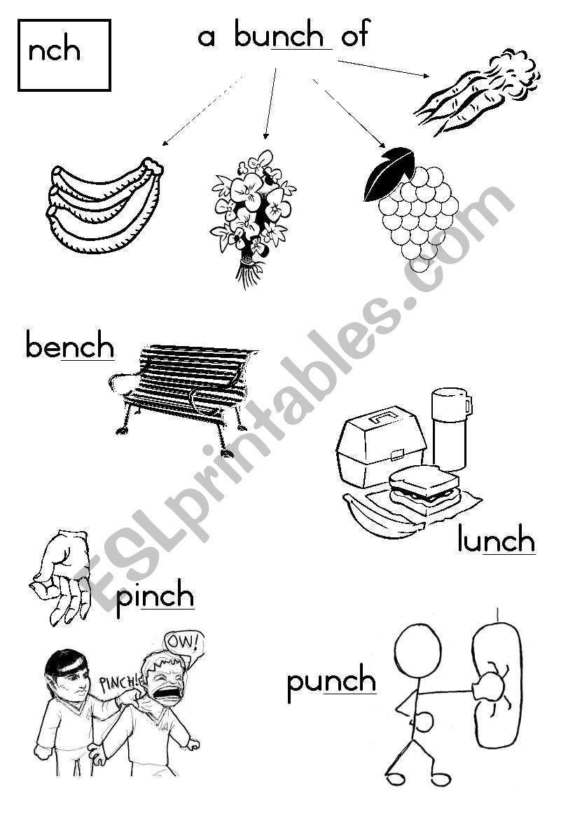 -nch Consonant Diagraph worksheet