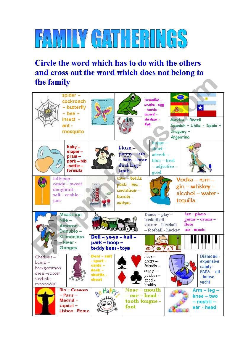 FAMILY GATHERINGS - ESL worksheet by luisaluisa