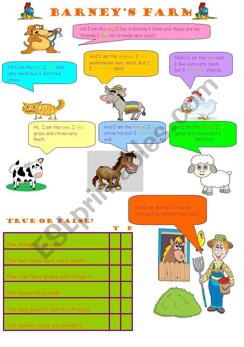 barneys farm worksheet