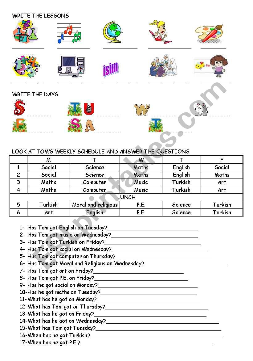 have got- subjects worksheet