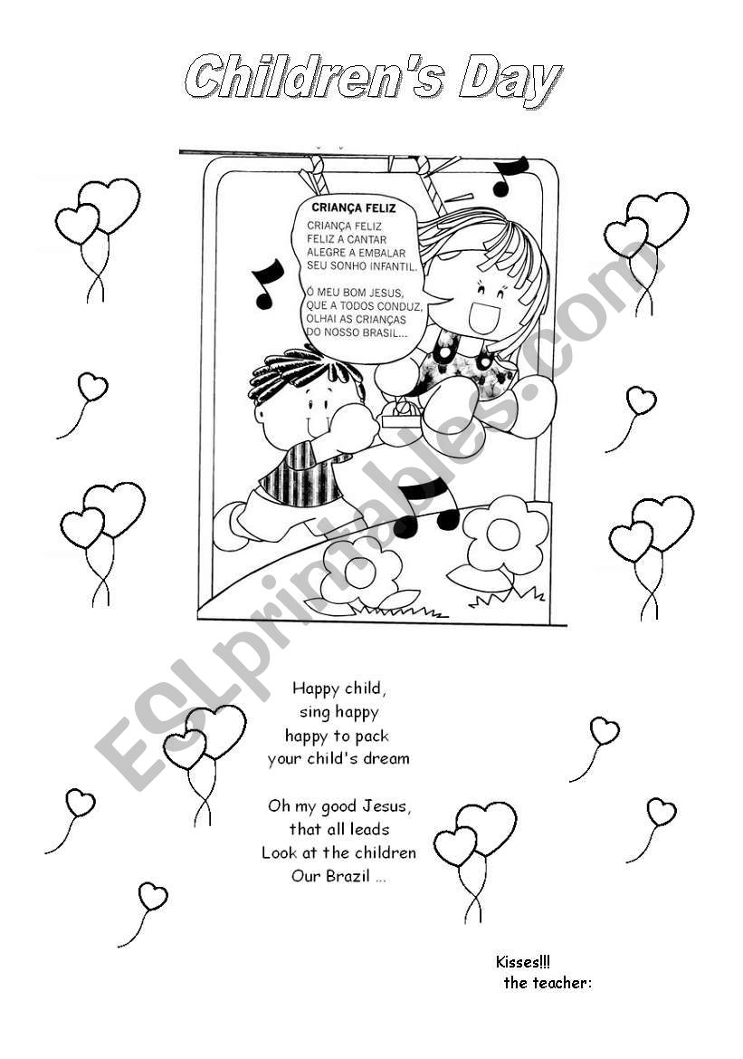 Children´s Day - ESL worksheet by rozanapereira