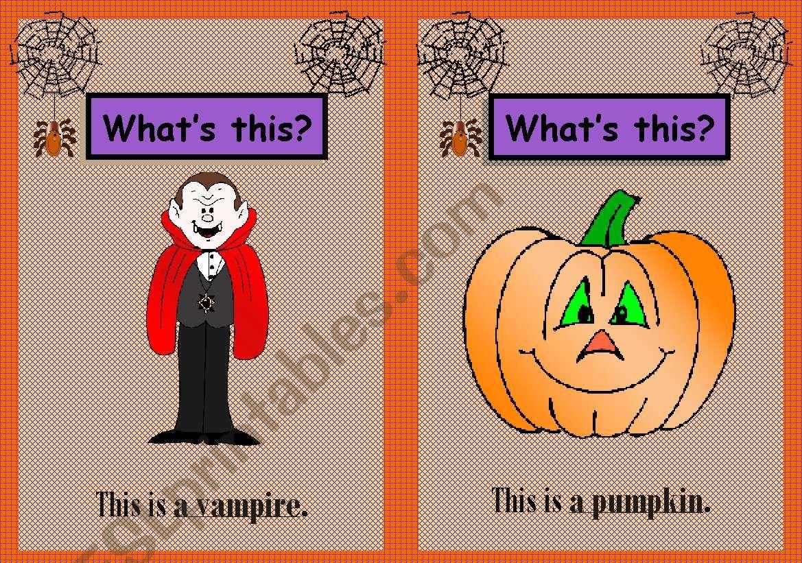 Halloween Flashcards 1/3 worksheet