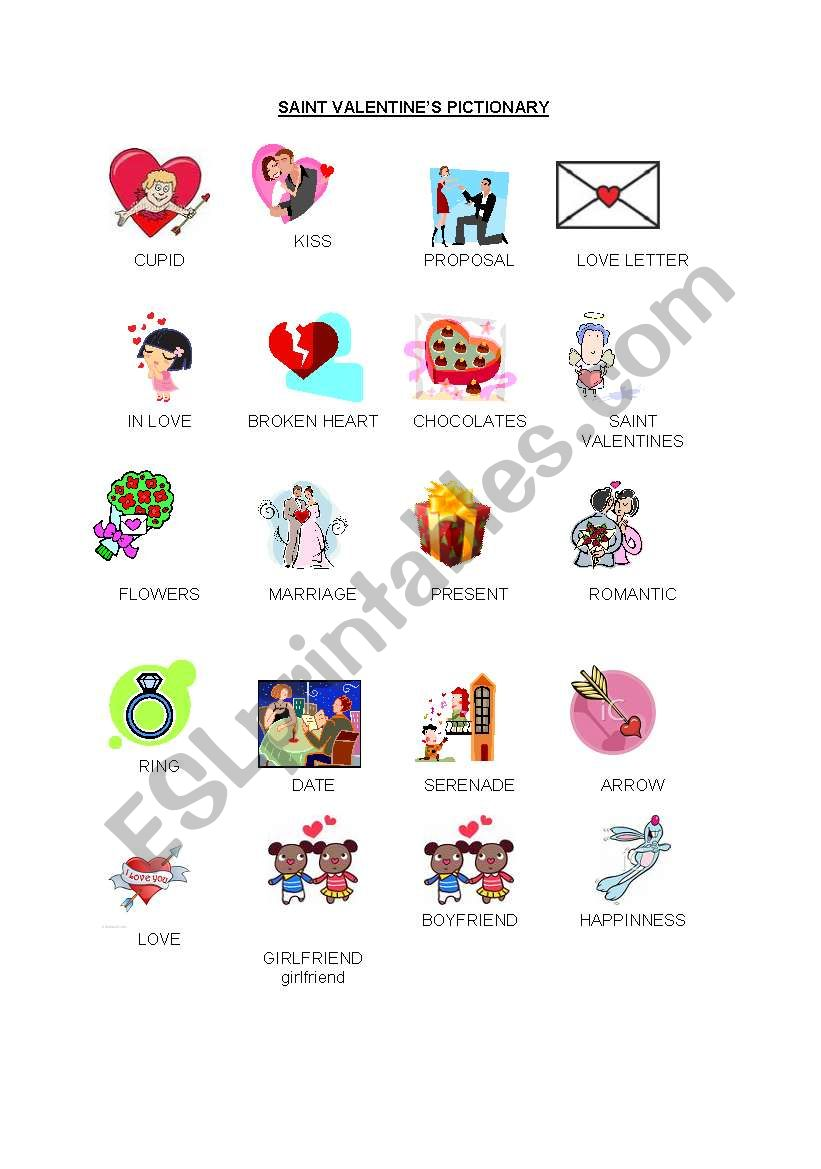 st valentine´s bingo cards and pictionary - part three