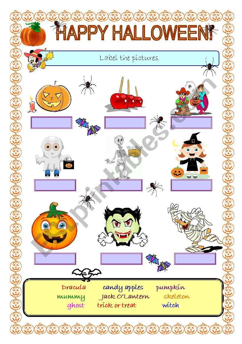 Happy Halloween! worksheet