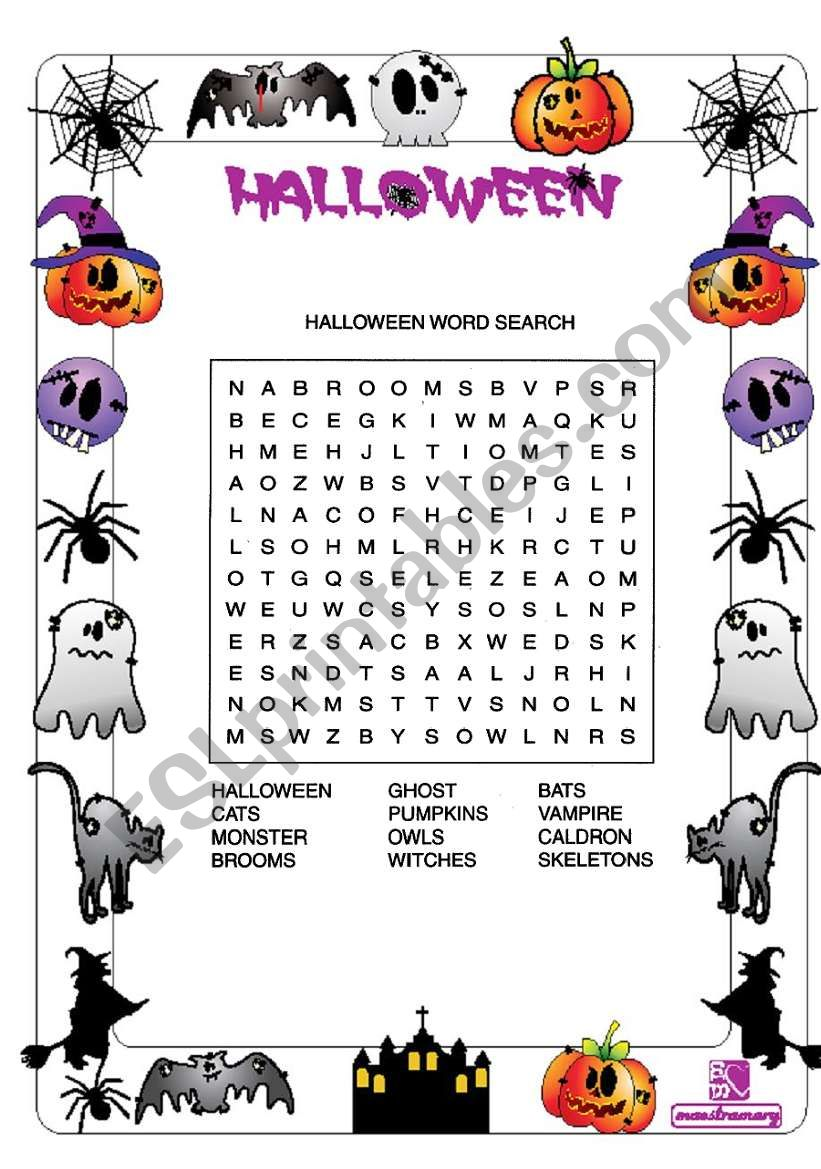 Halloween activities worksheet