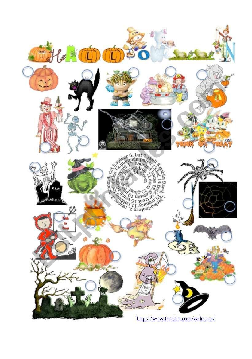 HalloweenPictionary worksheet