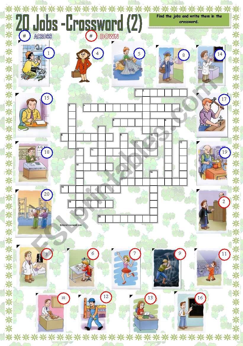 20 Jobs Crosswords - II (updated)