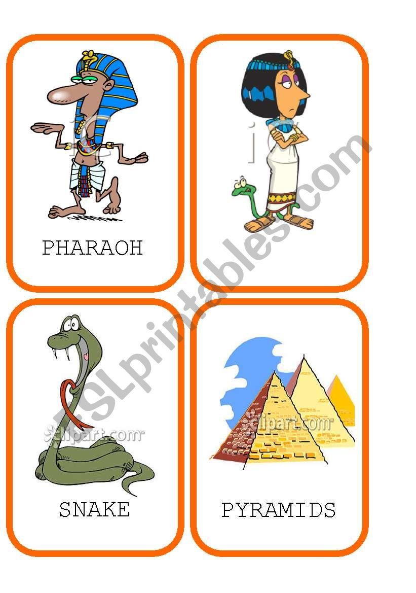 Ancient Egypt Flashcards 1 worksheet