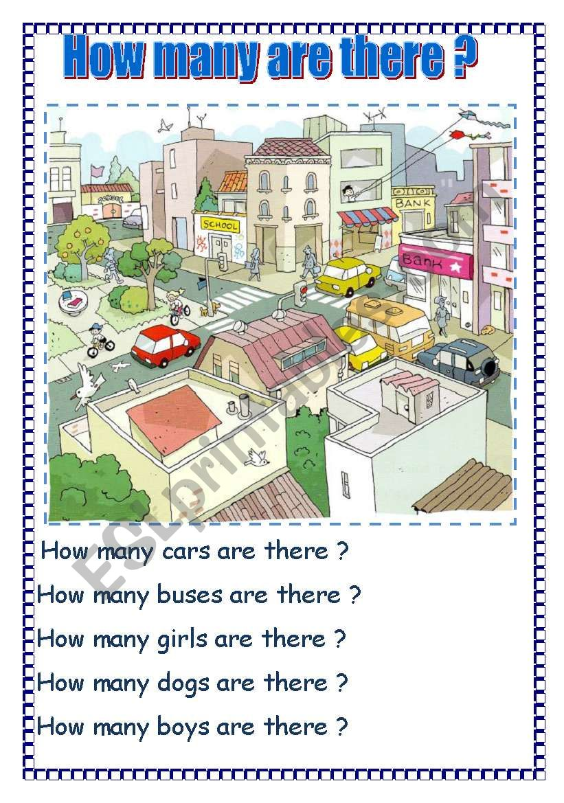 How many are there ? worksheet