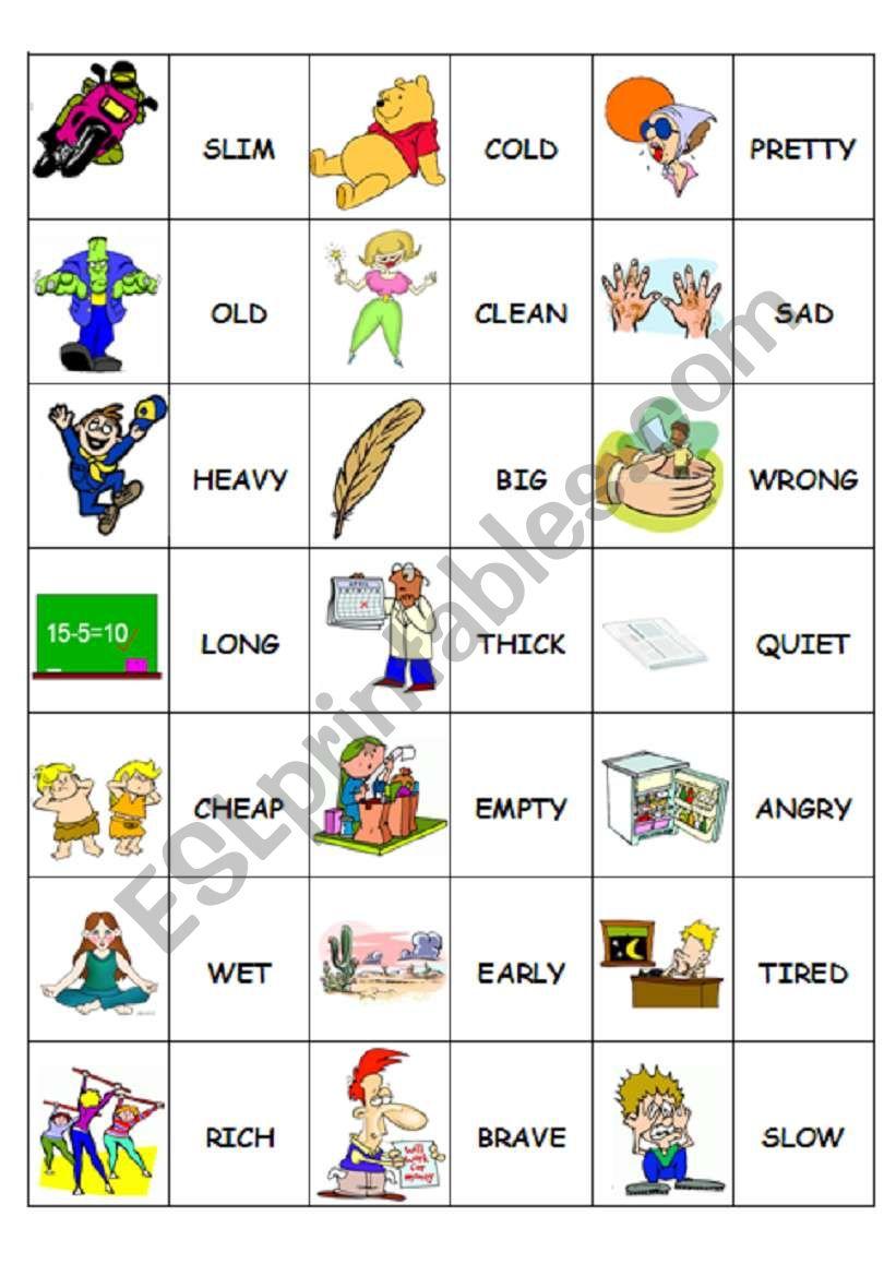 Domino Antonyms 2/2 worksheet