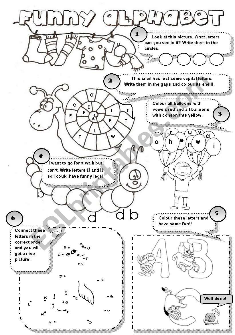 FUNNY ALPHABET! - 6 different alphabet activities for young learners