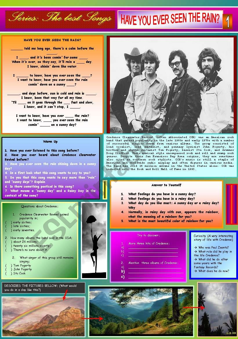 HAVE YOU EVER SEEN THE RAIN - CREEDENCE - PART 01
