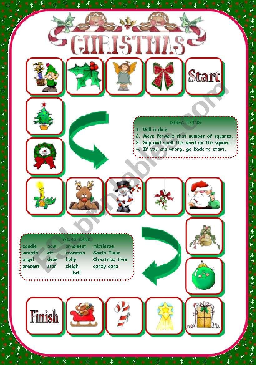 CHRISTMAS GAME worksheet
