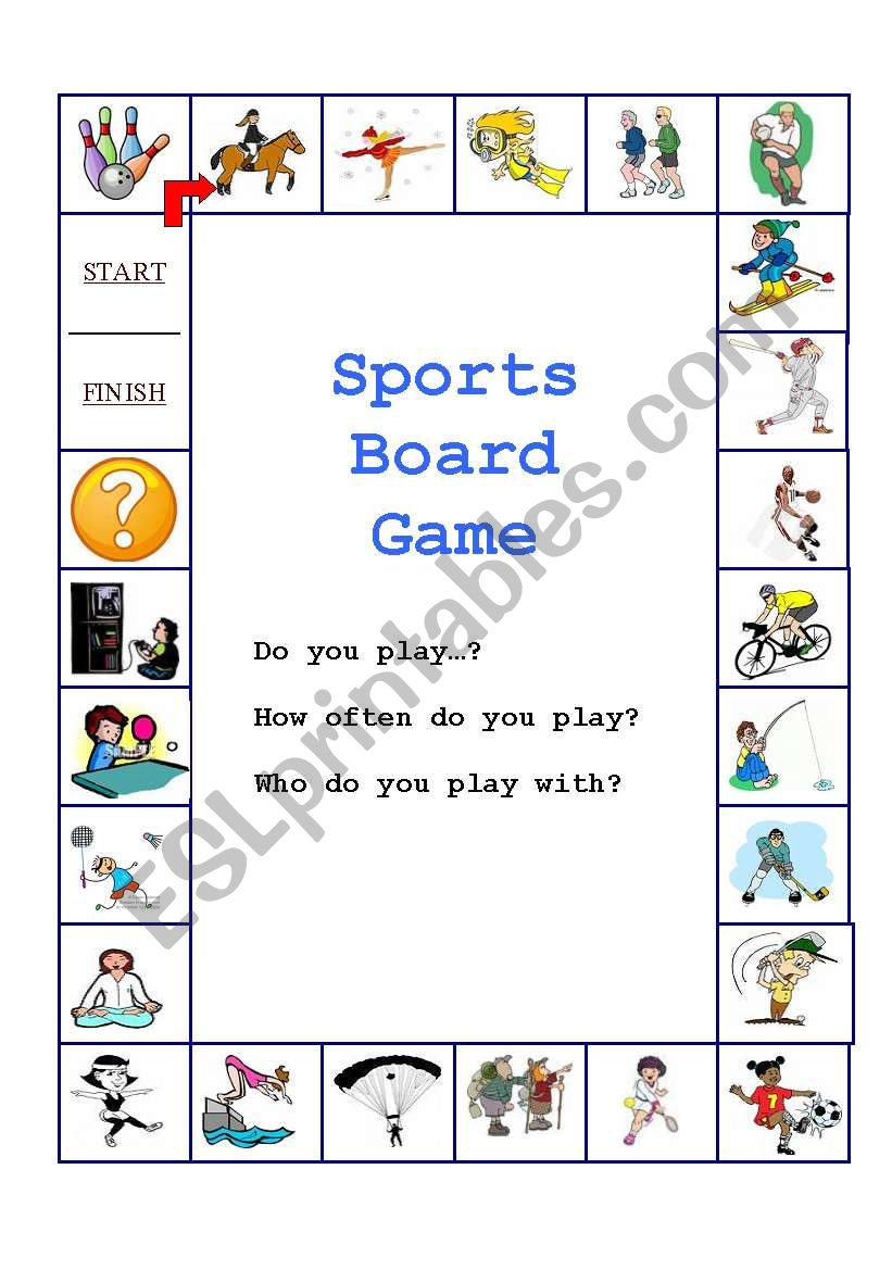 sports board game esl worksheet by ryanlaoshi. Black Bedroom Furniture Sets. Home Design Ideas