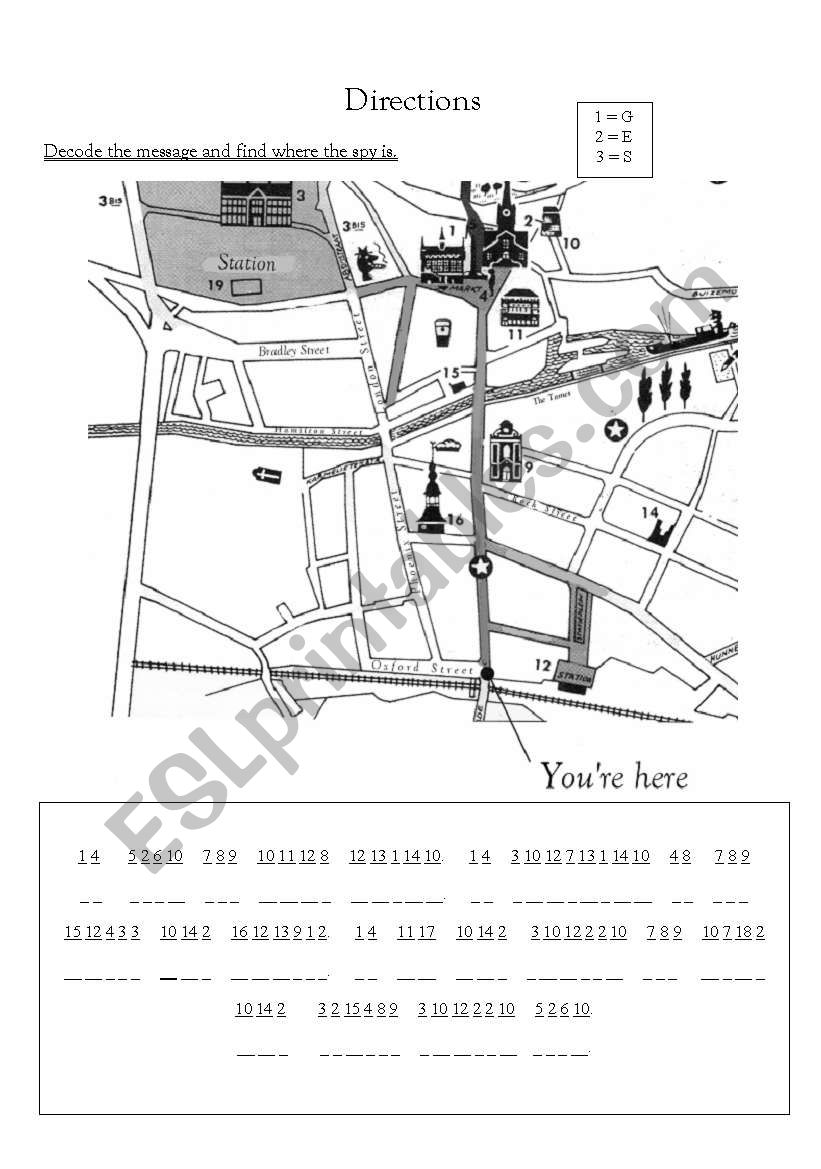 Where is the spy? worksheet